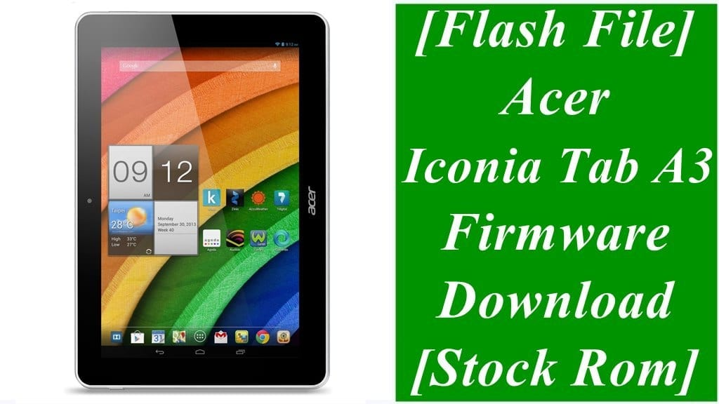 Acer Iconia Tab A3 Firmware