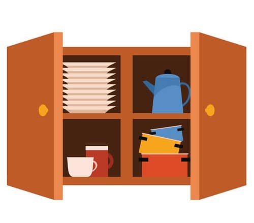 remove the doors from your kitchen cabinets