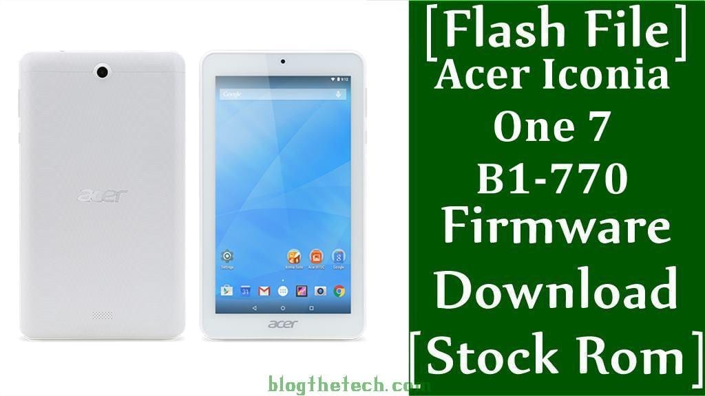 Acer Iconia One 7 B1 770