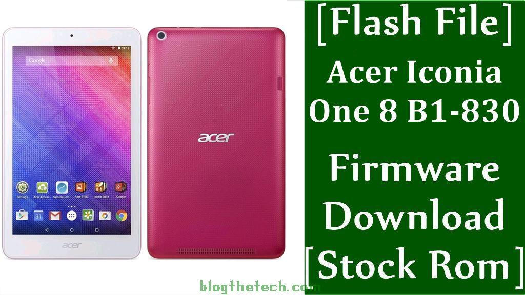 Acer Iconia One 8 B1 830