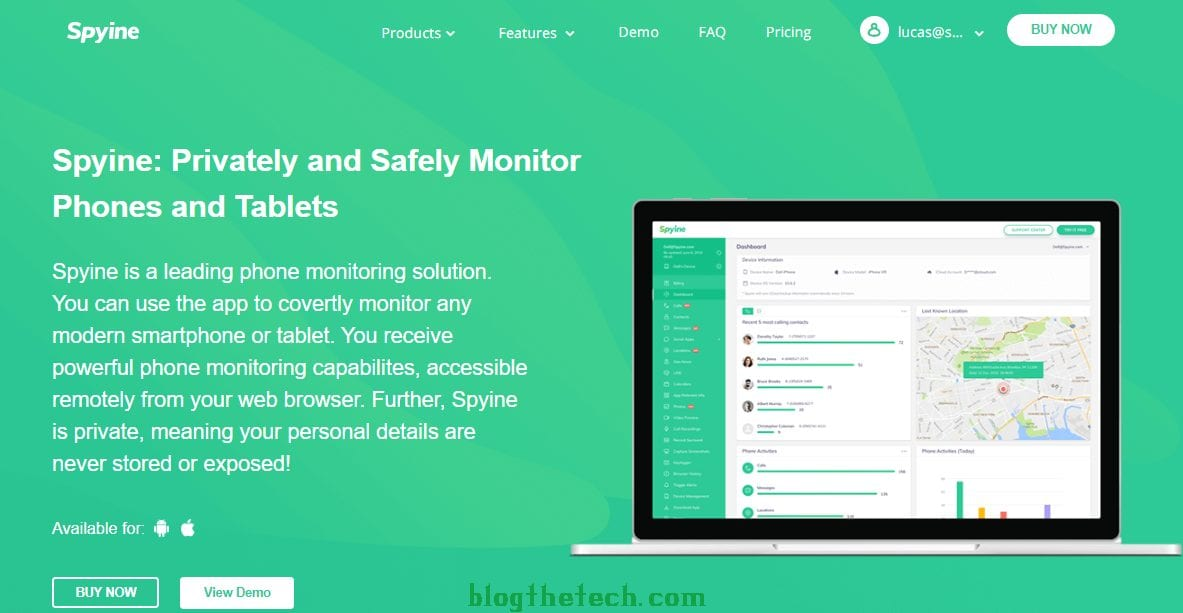 Spyine Privately and Safetly Monitor Phones and Tablets